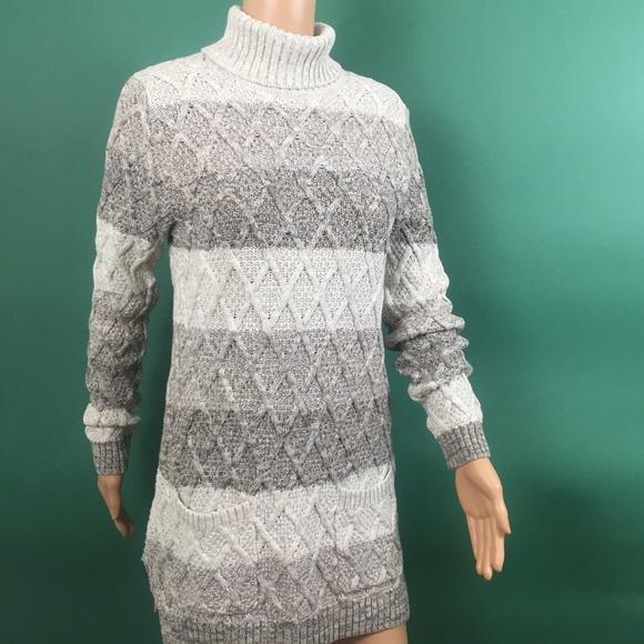 96aeea9968 Jeanne Pierre Sweater Tunic Turtleneck Pockets